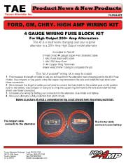 Ford, GM, Chrysler Hi_AMP wiring Kit