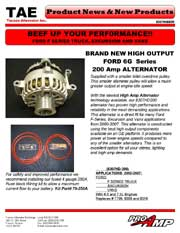 Ford 6G Series 200AMP Alternator