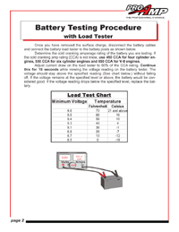 Battery testing with load tester