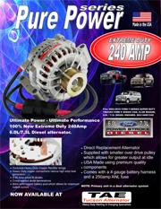 TAE Pure Power Series ford alternator